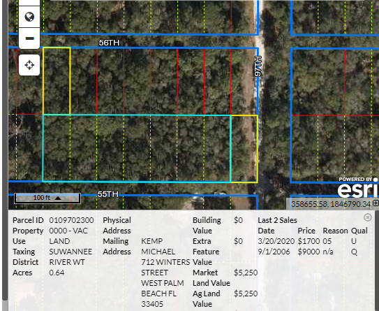 .64 acre – over 1/2 acre – Levy County, Florida  land for sale by owner