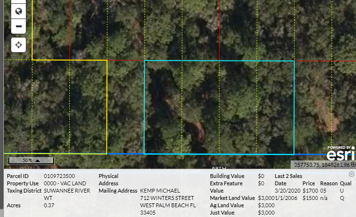 .37 acres (over 1/3 acre) Florida land for sale by owner