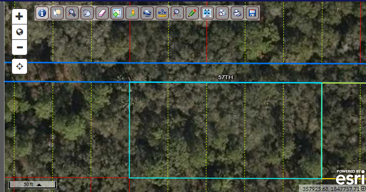 200′ road frontage on NW 57th LN (.48 acres) buildable lot – North Florida land for sale by owner