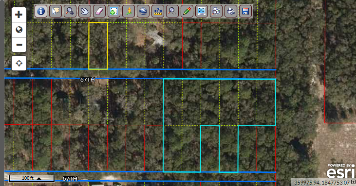 Rare!  Amazing .82 acre lot with frontage on 2 roads – beautiful, raw North Florida land – 7 minutes from Suwannee River boat ramp (Fowler's Bluff)